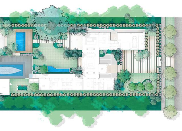 sketching of landscape design of Aurora Garden